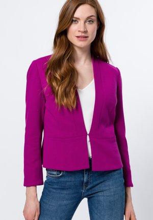 MIT HAKENVERSCHLUSS - Cardigan - magenta rouge