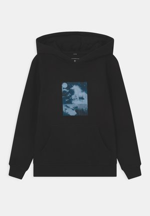 UNICORN NIGHT HOODY UNISEX - Sweatshirt - black
