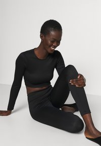 Gina Tricot - YARA LEGGINGS - Pyjama bottoms - black - 3