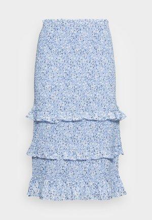 WEBEX  SMOCKED MIDI - Pouzdrová sukně - blue