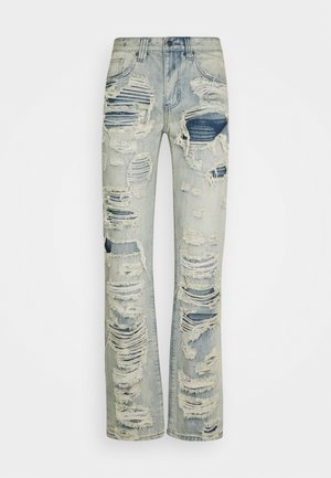 EXTREME RIPPED  - Straight leg jeans - blue