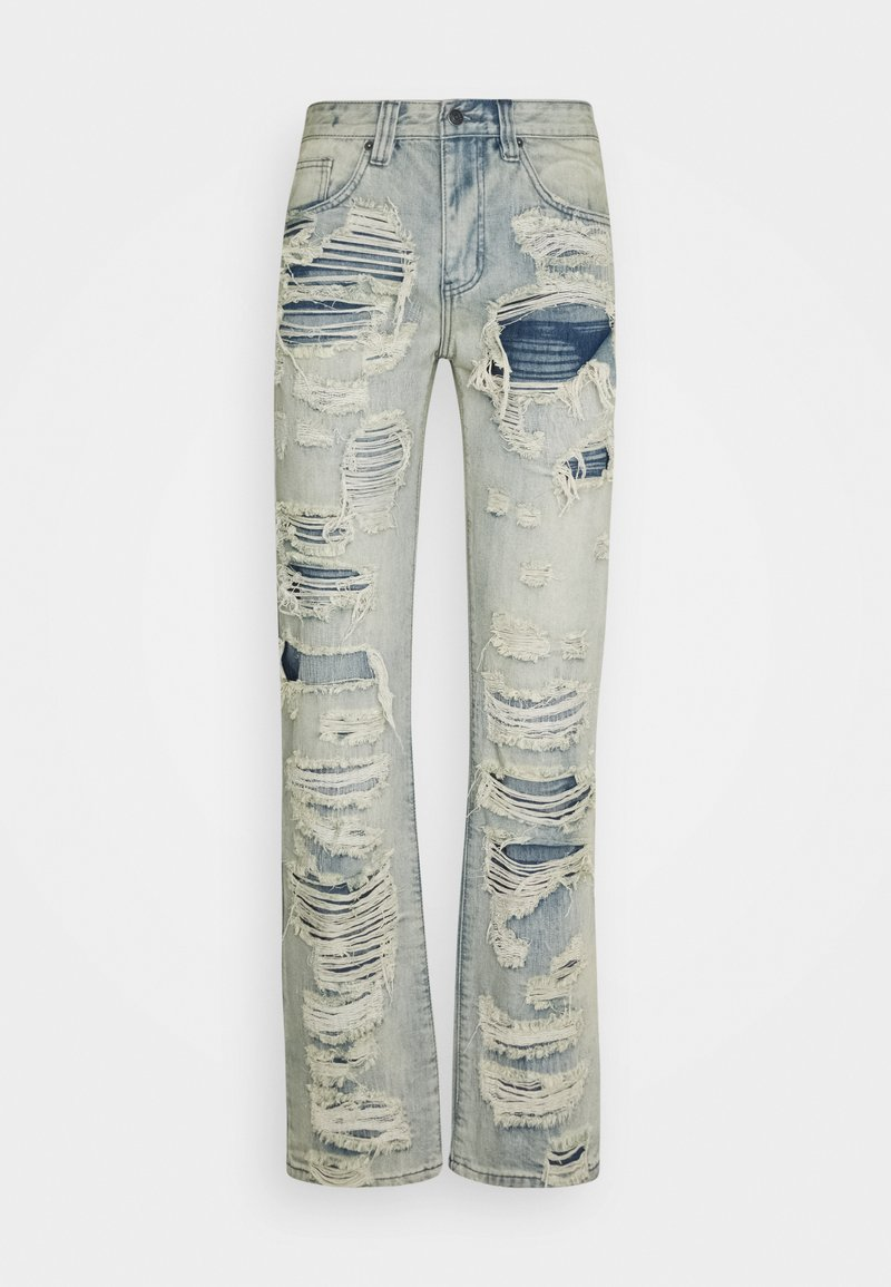 Jaded London - EXTREME RIPPED  - Jeans a sigaretta - blue
