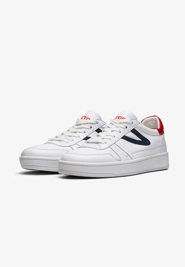 COURT CLAY W'S - Sneakers laag - white/navy/