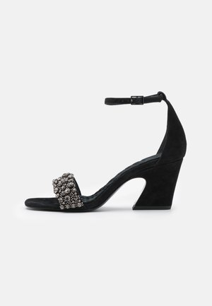 CRYSTAL  - Sandals - perfect black
