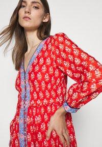 J.CREW - DRESS IN BLOCKPRINT - Košilové šaty - cerise cove/multi - 4