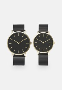 Pier One - COUPLE WATCHES GIFT SET - Klocka - black/gold-coloured - 0