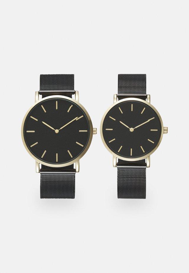 COUPLE WATCHES GIFT SET - Klocka - black/gold-coloured