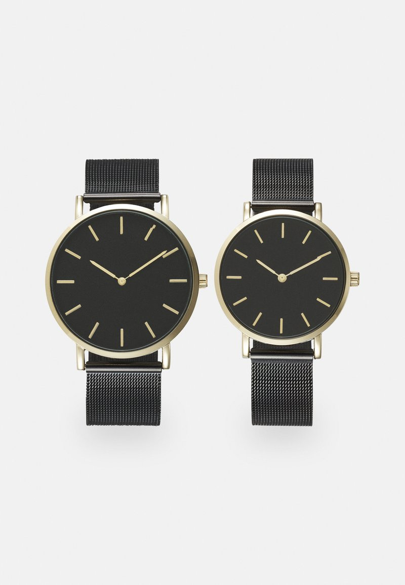 Pier One - COUPLE WATCHES GIFT SET - Klocka - black/gold-coloured