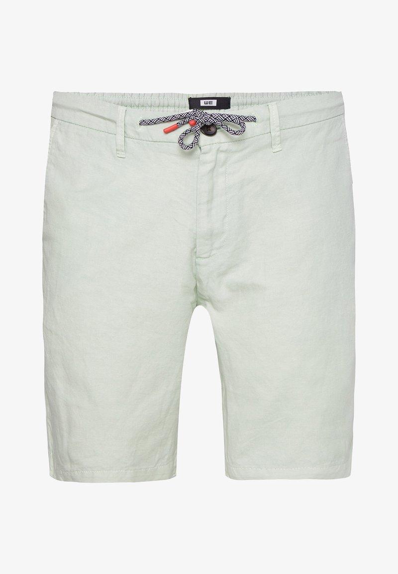 WE Fashion - WE FASHION HEREN REGULAR FIT CHINOSHORT VAN LINNENMIX - Shorts - mint green