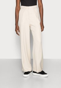 esmé studios - ESMARINA WIDE LOOSE PANTS - Trousers - bleached sand - 0