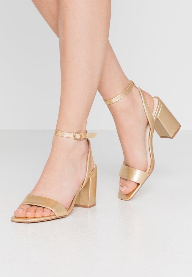 VMLIVA - High heeled sandals - pale gold