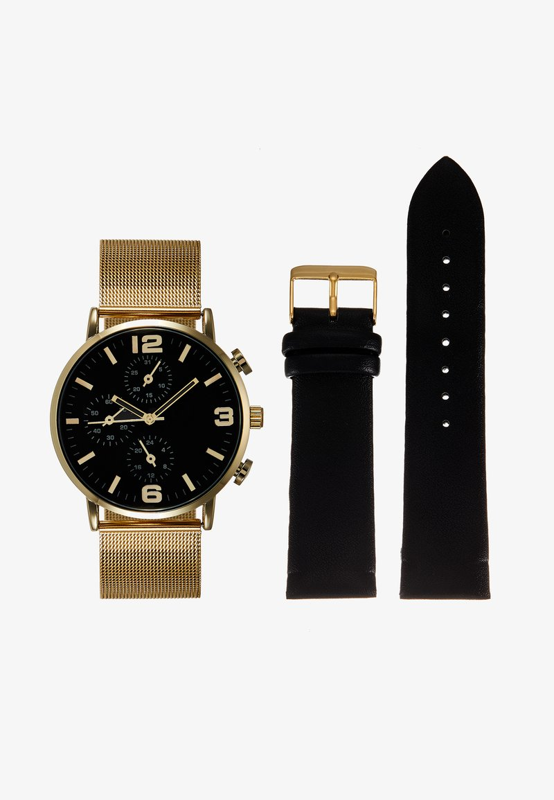 Pier One - SET - Orologio - gold-coloured/black