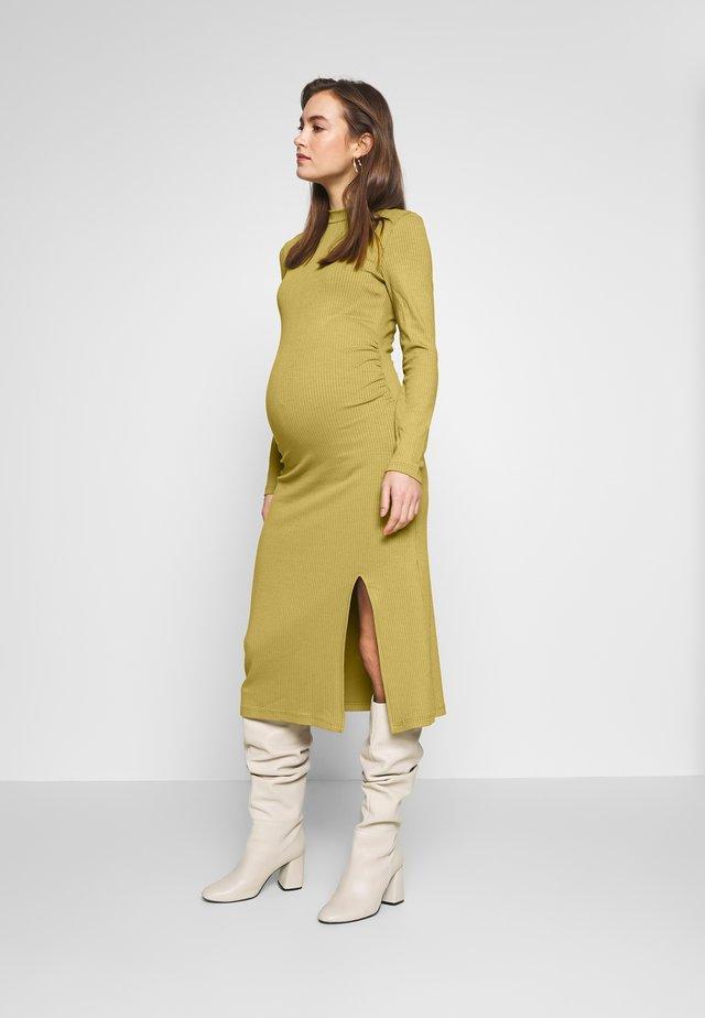 Jerseykleid - oliv