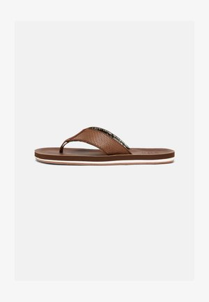 VEGAN KIELLE - T-bar sandals - cognac