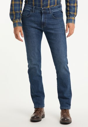 THOMAS - REGULAR FIT - Straight leg jeans - stone used