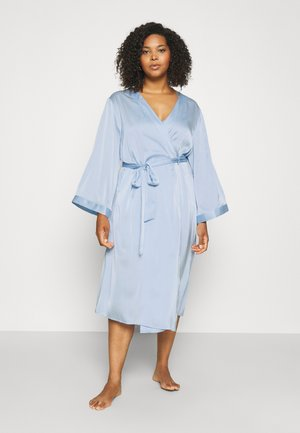 SLINKY MIDI ROBE - Dressing gown - sky blue