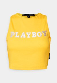 PLAYBOY SPORTS RACER CROP - Toppi - yellow