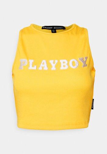 PLAYBOY SPORTS RACER CROP - Débardeur - yellow