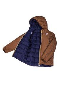 K-Way - Down jacket - brown-blue maritime - 5
