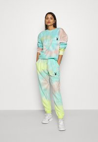 Missguided - PLAYBOY TIE DYE JOGGER - Tracksuit bottoms - multi - 1