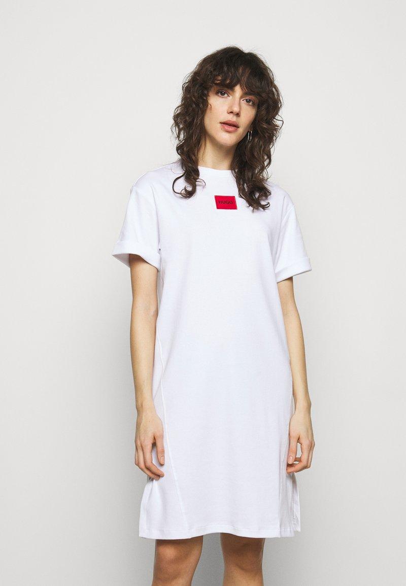 HUGO - NEYLETE REDLABEL - Jersey dress - white