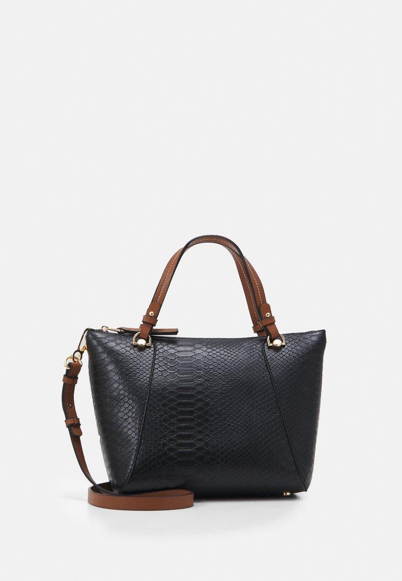 PARFOIS - SHOPPER BAG SNAKIE SET - Velká kabelka - black
