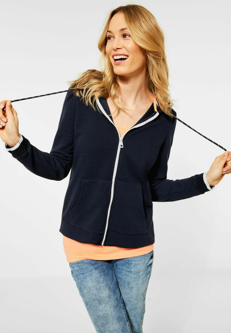 Cecil - OTTOMAN - Zip-up sweatshirt - dark blue