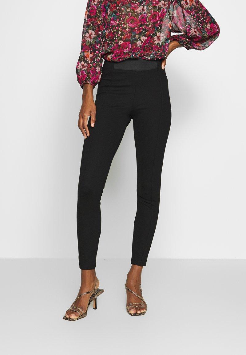 Esprit - PUNTO PANT - Legging - black