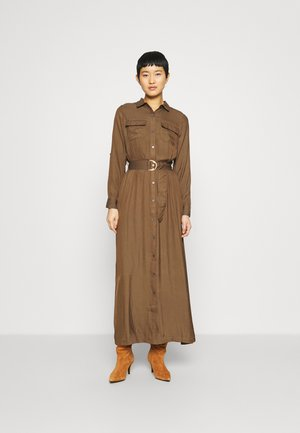 SHIRTDRESS SOLID - Vestido largo - heritage olive
