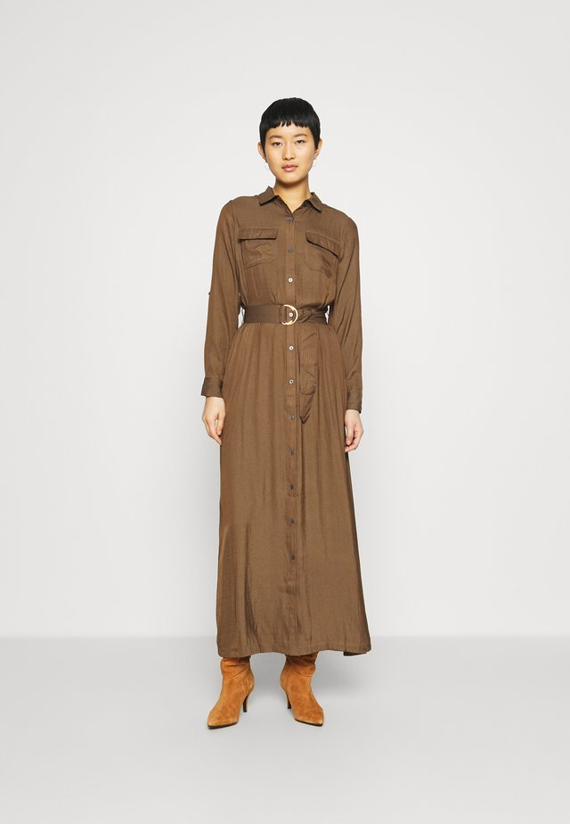 SHIRTDRESS SOLID - Robe longue - heritage olive