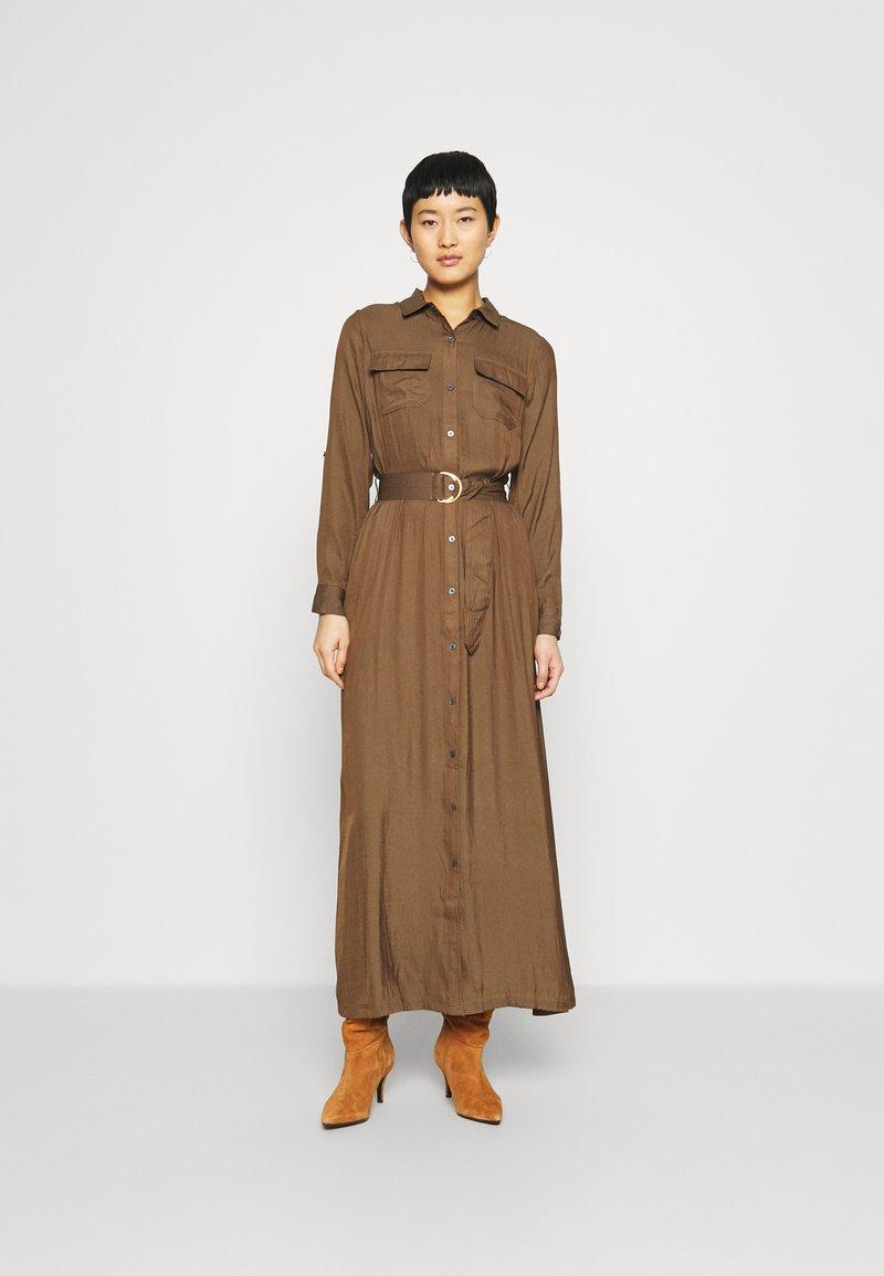 Banana Republic - SHIRTDRESS SOLID - Maxi dress - heritage olive