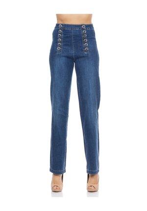 WEITE DENIM-HOSE MIT KNÖPFEN VORNE - Bootcut jeans - denim