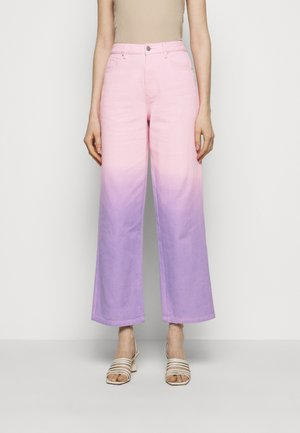 LYNNIE - Jeans straight leg - lilac pink ombre