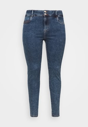 NMAGNES BUTTON - Skinny džíny - medium blue denim