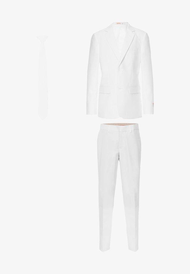 TEEN BOYS WHITE KNIGHT - Tygbyxor - white