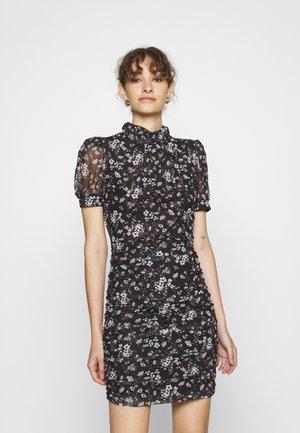 DUSTY FLOWER DRESS - Denní šaty - black