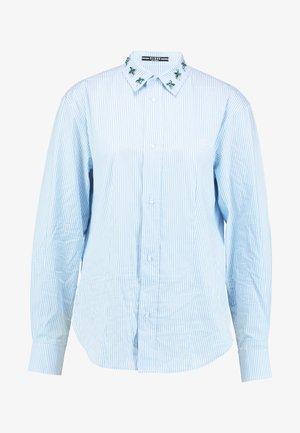 ISA - Button-down blouse - white/light blue