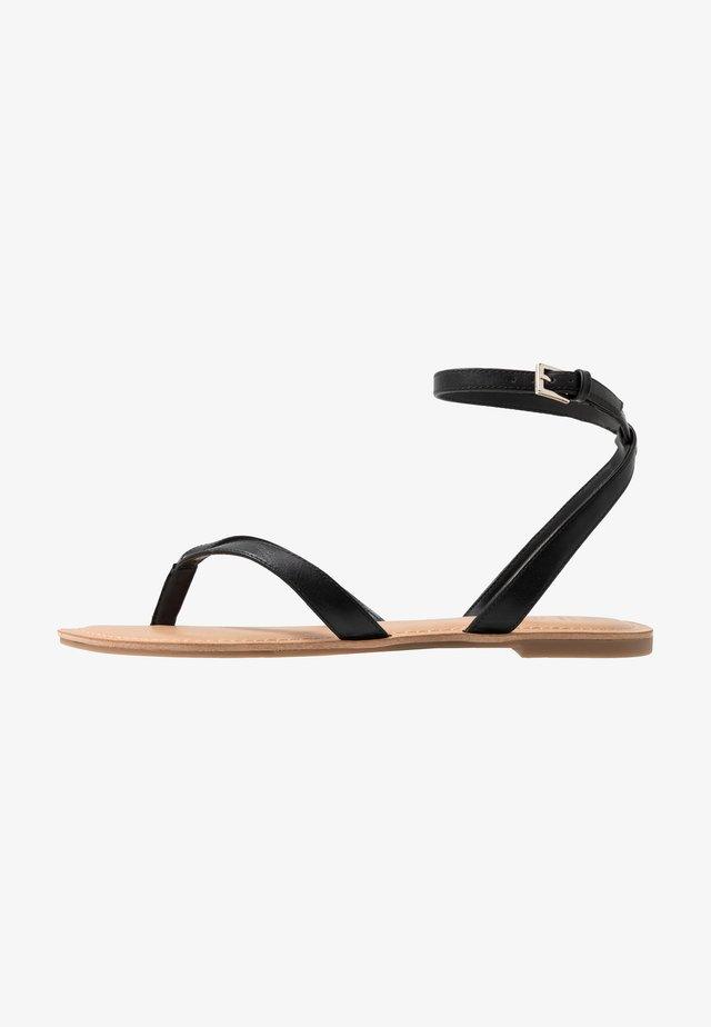 SIMKOTRA - Sandalias de dedo - black