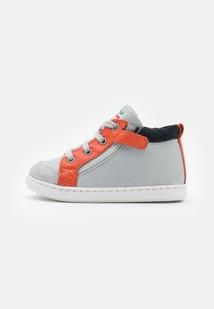 BOUBA BI ZIP - Baby shoes - ice/orange/navy