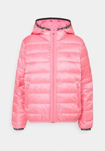 QUILTED TAPE HOODED JACKET - Winter jacket - botanical pink