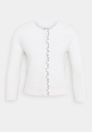 CARDIGAN TULIP - Cardigan - white