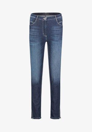 Slim fit jeans - blue used denim