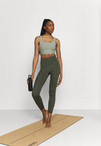 Cotton On Body - SCOOP NECK VESTLETTE - Top - basil green rib - 1