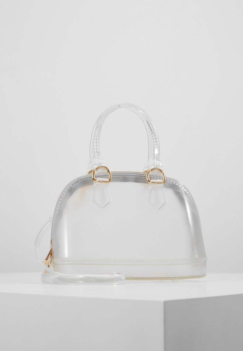 Missguided - TRANSPARENT MINI BOWLER BAG - Handbag - clear