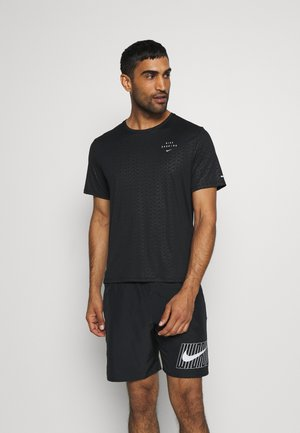 Nike Run Division - Camiseta estampada - black/reflective silver