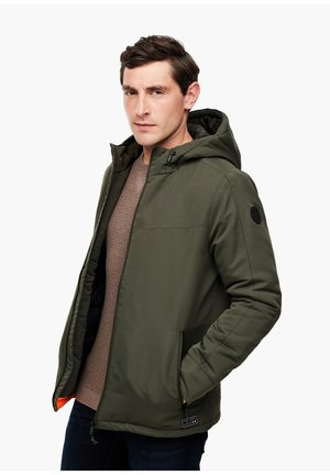MIT WARMER WATTIERUNG - Winter jacket - olive tree