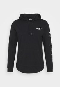 Hollister Co. - ICONIC HOODS  - Long sleeved top - black - 4
