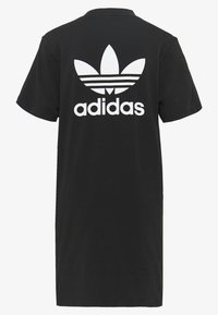 adidas Originals - ADICOLOR TREFOIL DRESS - Jersey dress - black/white - 1