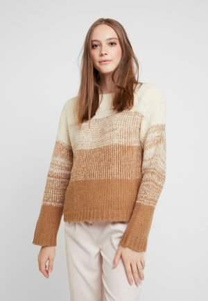 Strickpullover - white pepper/gradient with toasted