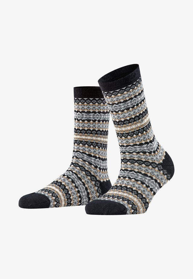 COUNTRY FAIR ISLE - Socks - black